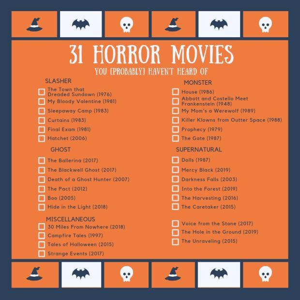 31 Horror Movies